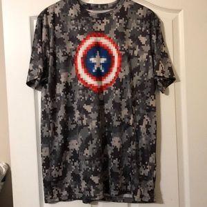 Captain America short sleeve shirt